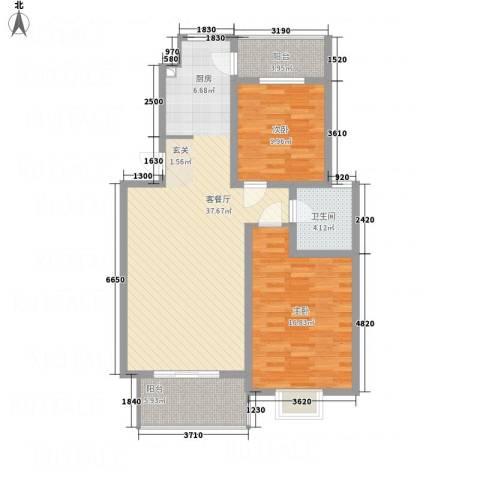 梅林国际2室1厅1卫0厨78.46㎡户型图