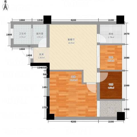 聚鑫2期阔座3室2厅1卫1厨54.60㎡户型图