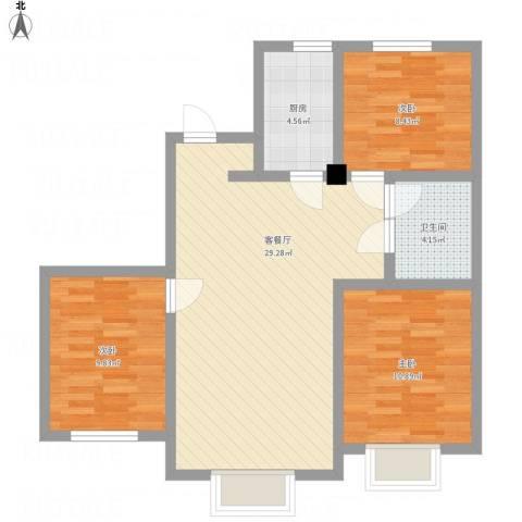 沈阳月星国际城3室1厅1卫1厨97.00㎡户型图