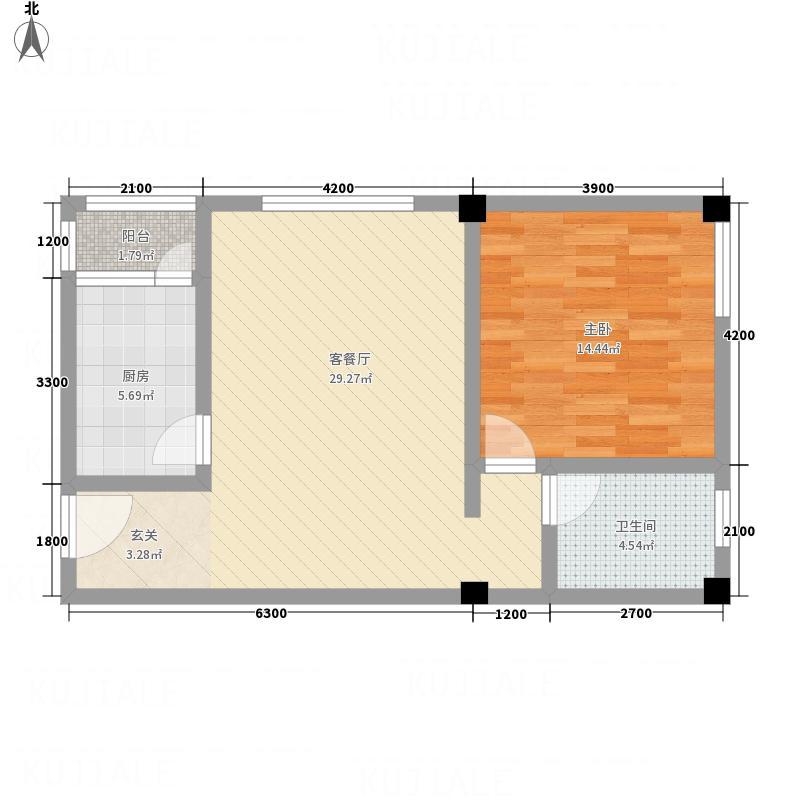 畔山庭院2168.20㎡B2户型1室1厅1卫