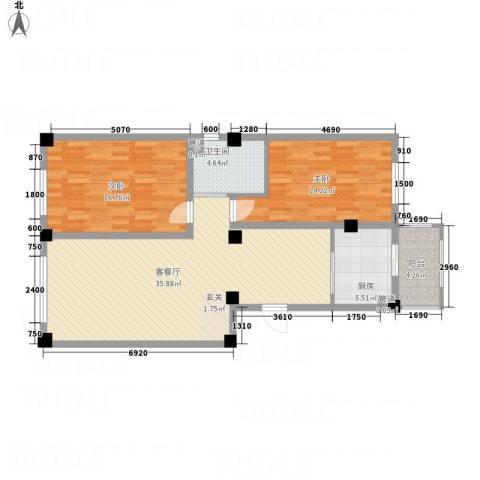 宏业・都市华庭2室1厅1卫1厨81.42㎡户型图