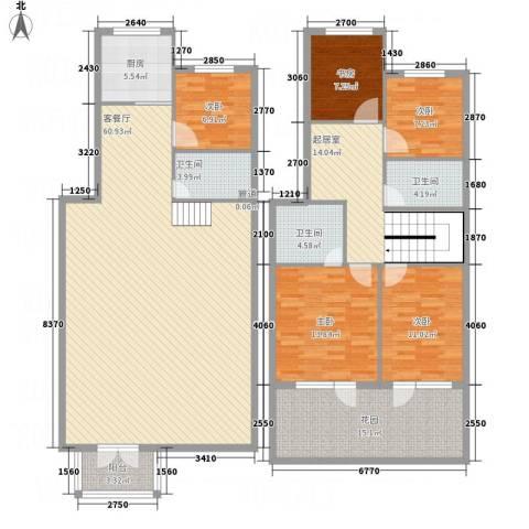 黄金水岸5室1厅3卫1厨212.00㎡户型图