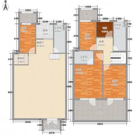 黄金水岸5室1厅3卫1厨221.00㎡户型图