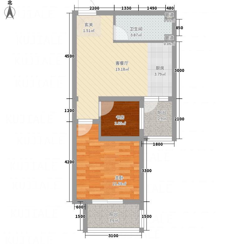 博雅文苑64.00㎡-2户型2室2厅1卫