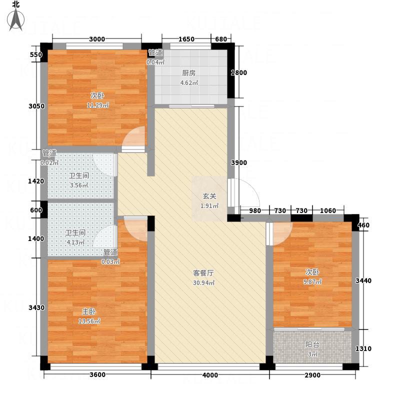 神栗花园・剑桥郡16.30㎡E户型3室2厅2卫1厨