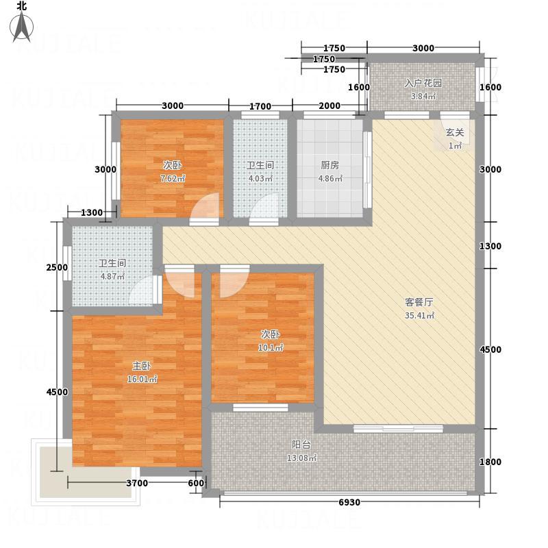 立新街棚户改造项目(�圆丽都)124.40㎡立新街棚户改造项目EG_副本户型3室2厅2卫1厨