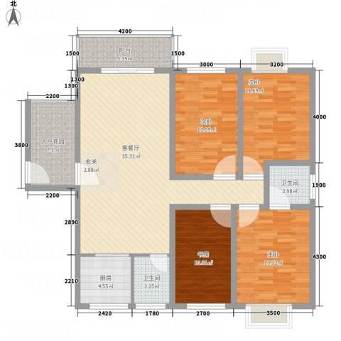 香港花园4室1厅2卫1厨151.00㎡户型图
