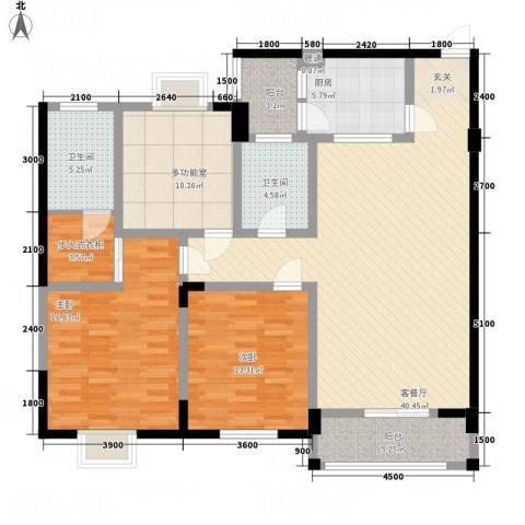 华兴名城2室1厅2卫1厨132.00㎡户型图