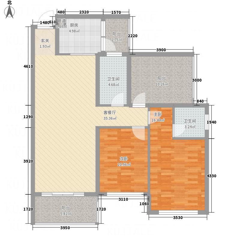 泽坤名仕公馆23115.20㎡2#3#号楼01户型3室2厅2卫