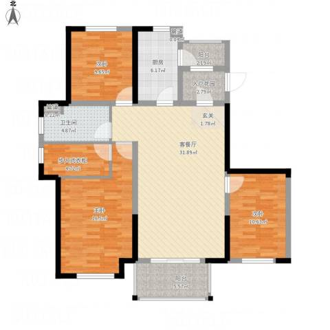 金辉城3室1厅1卫1厨136.00㎡户型图