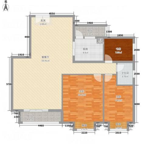 馨雅如3室1厅1卫1厨232137.00㎡户型图