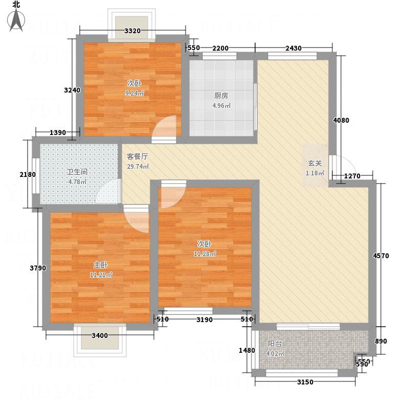 中科碧水豪庭1期5#楼边户D3户型