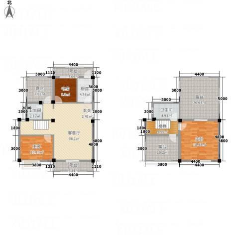 畔山庭院3室1厅2卫1厨13123.00㎡户型图