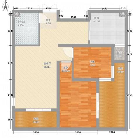 金源财富广场2室1厅1卫1厨83.00㎡户型图