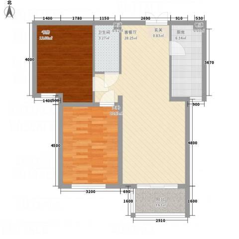 金源财富广场2室1厅1卫1厨66.24㎡户型图