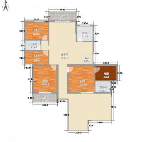 中亨尊品5室1厅2卫1厨200.00㎡户型图