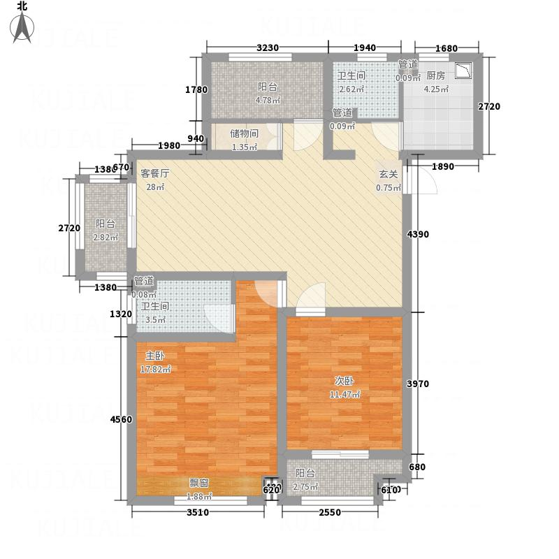 建滔裕花园一期12#楼标准层B1边户型