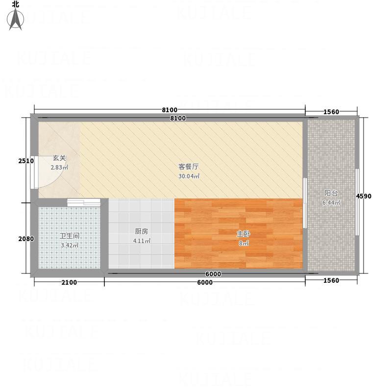 中亨尊品53.00㎡c12(5279)户型1室1厅1卫1厨