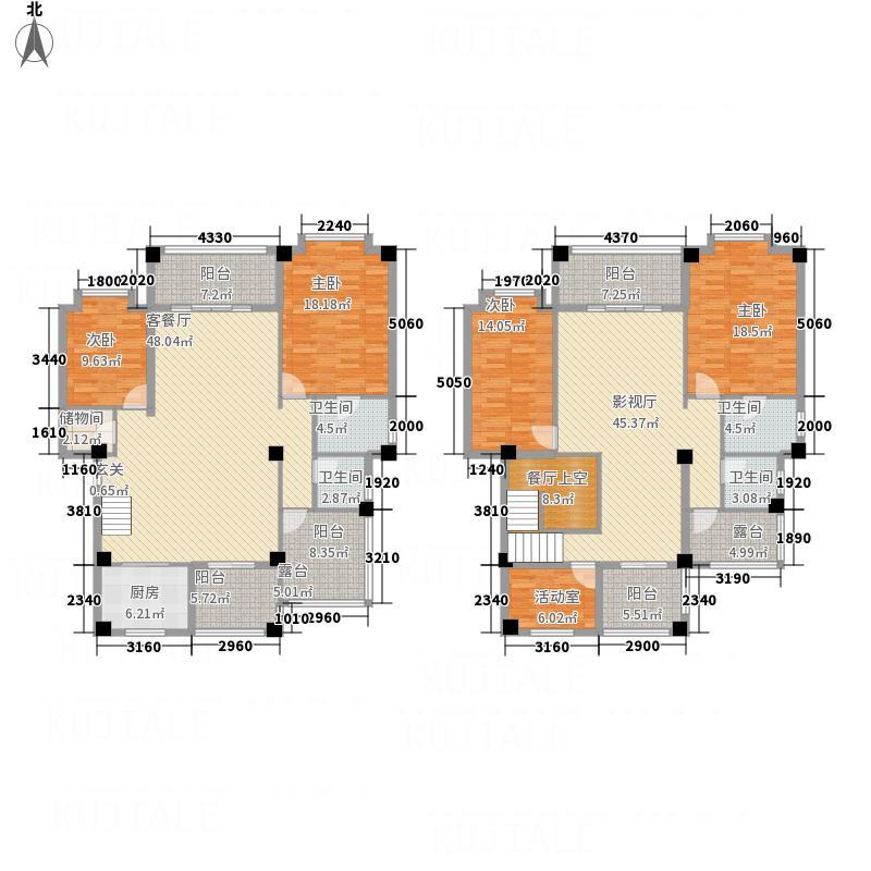 龙祥苑31424.52㎡E3-1户型4室4厅4卫1厨