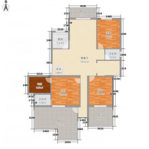 中亨尊品4室1厅2卫1厨212.00㎡户型图