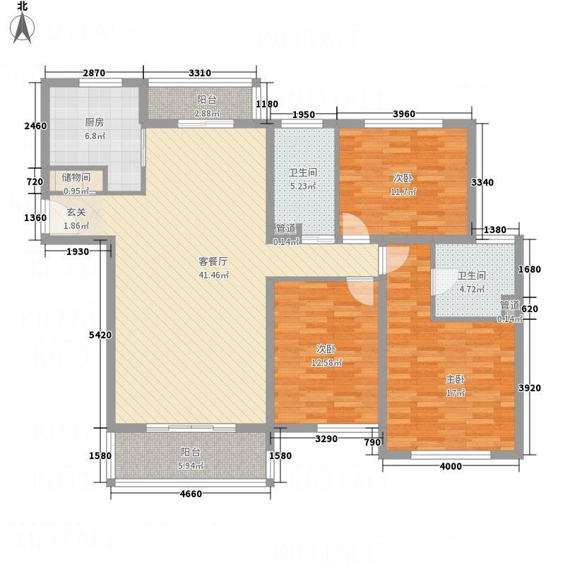 上海新城一期3#楼标准层C户型