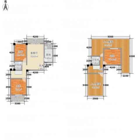畔山庭院3室1厅2卫1厨5314.00㎡户型图