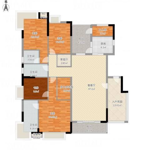 清华居4室1厅3卫1厨239.00㎡户型图