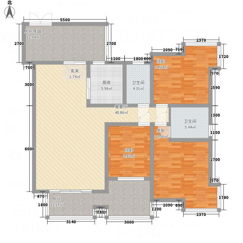 都市兰亭18.10㎡B4b户型2室2厅2卫1厨