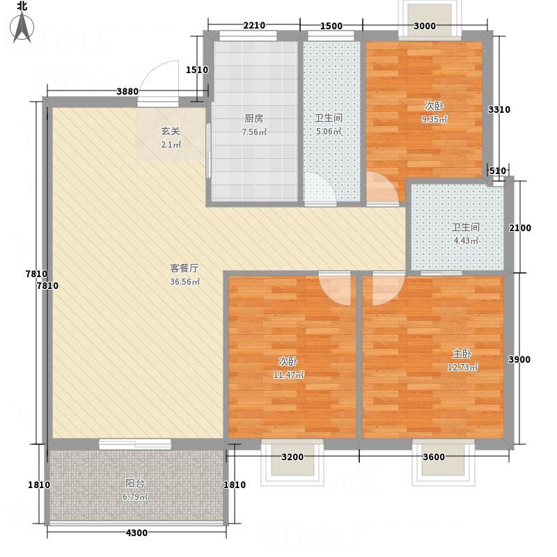 东升花苑四期27栋205户型