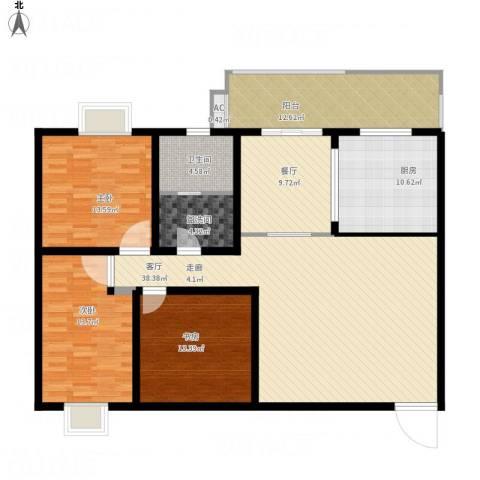 嘉怡豪庭3室2厅1卫1厨171.00㎡户型图