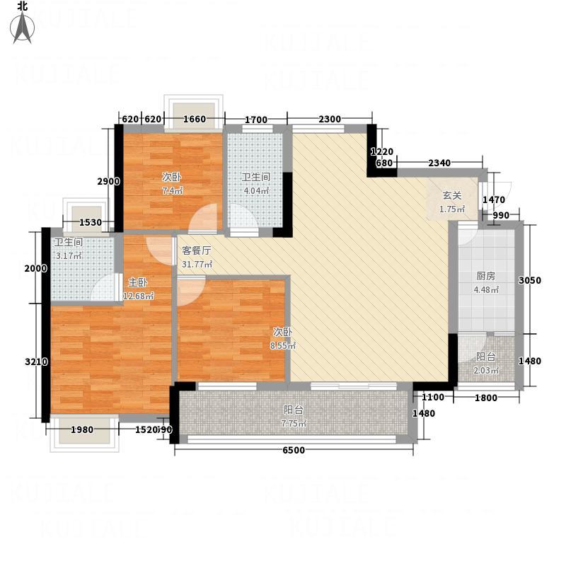 中泰・田园15.50㎡3223114172户型3室2厅2卫2厨