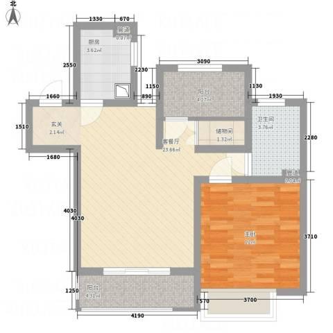 建滔裕花园1室1厅1卫1厨78.00㎡户型图