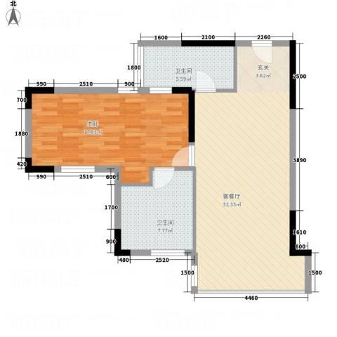 创富商务公寓1室1厅2卫0厨88.00㎡户型图