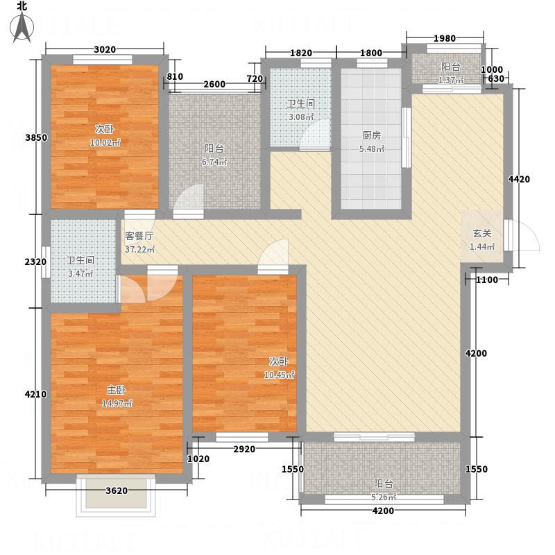 南湖1号133.46㎡1户型4室2厅2卫1厨