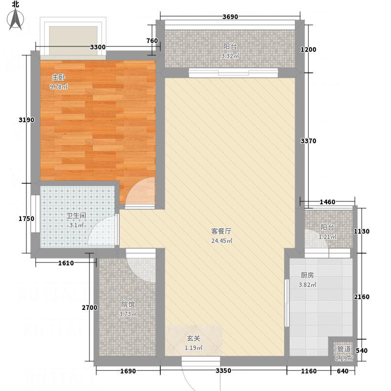 金利多・蔚蓝阳光467.53㎡4#、5#C3型户型1室2厅1卫1厨