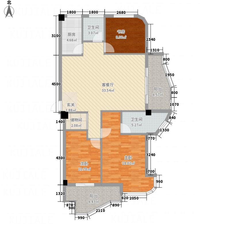 中欧・波尔沃小镇18.75㎡K户型3室2厅2卫1厨