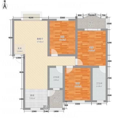 阳光水岸3室1厅2卫0厨94.09㎡户型图