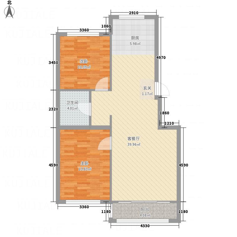 英伦小镇3211.20㎡3-a户型2室1厅1卫