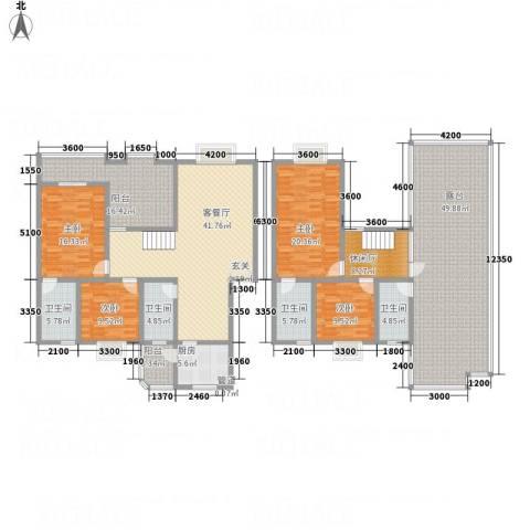 阳光水岸4室1厅4卫1厨202.33㎡户型图
