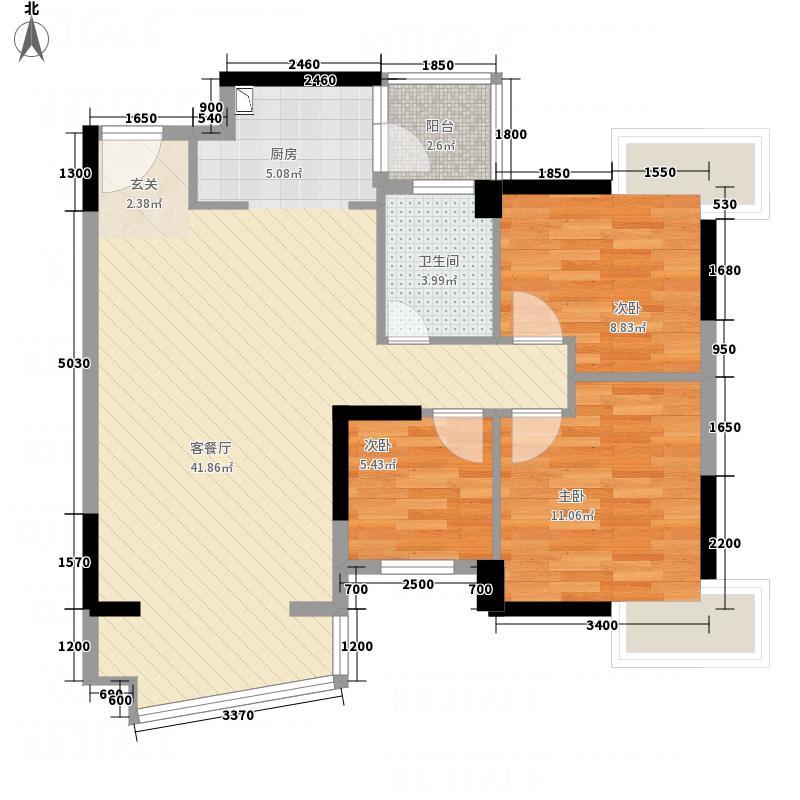 星晖园三期碧雅轩1-2座03单位户型