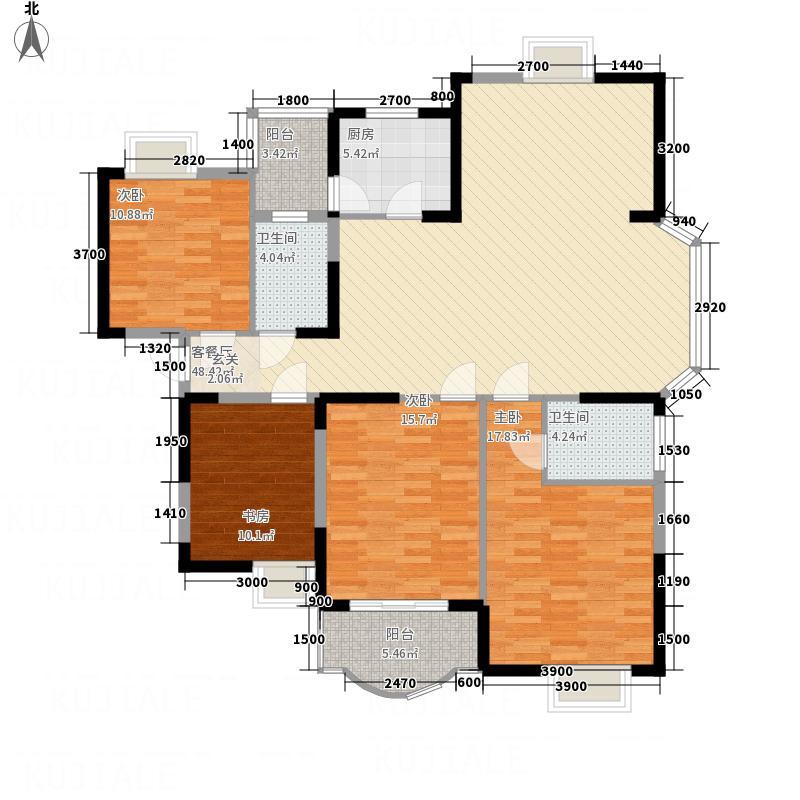 香悦邻里户型3室2厅2卫1厨