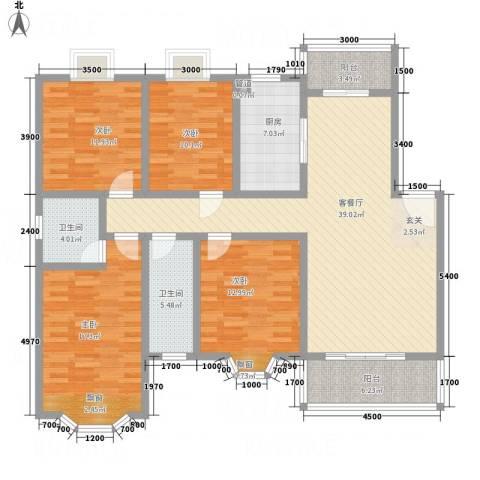天工颐园4室1厅2卫1厨170.00㎡户型图
