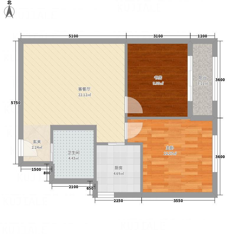 水岸-畅园212.20㎡户型2室2厅1卫1厨