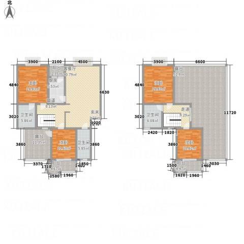 阳光水岸4室1厅3卫1厨204.38㎡户型图