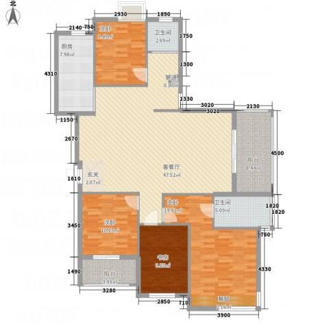 茗阳天下4室1厅2卫1厨125.14㎡户型图