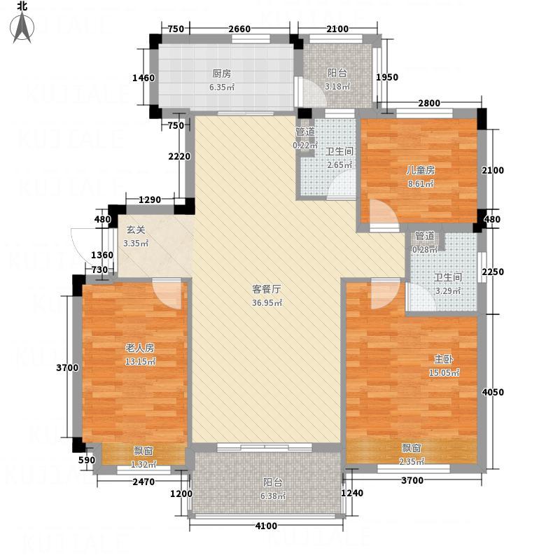 韶关碧桂园121.00㎡彩虹郡YJ115T-2型户型3室2厅2卫1厨