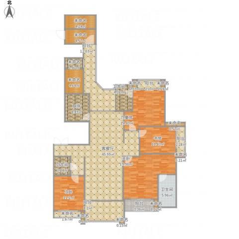 雅居乐滨江国际4室1厅3卫1厨231.00㎡户型图
