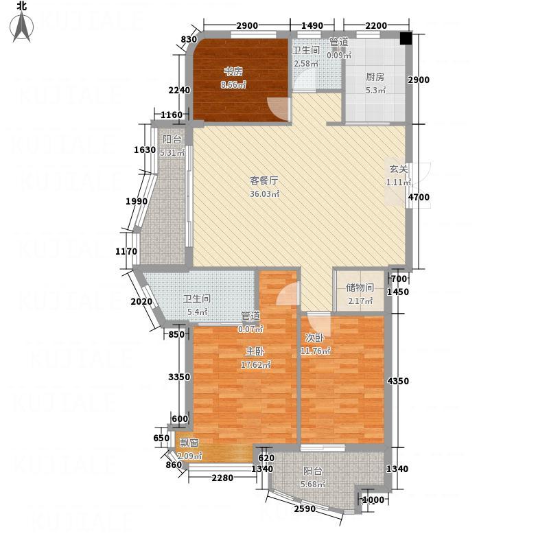 中欧・波尔沃小镇117.68㎡F户型3室2厅2卫1厨