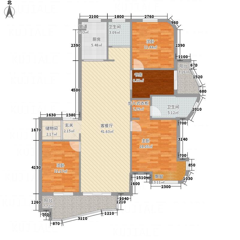 中欧・波尔沃小镇13.00㎡P户型4室2厅2卫1厨