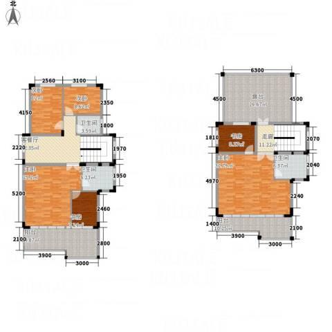 山泉三十六府6室1厅3卫0厨272.00㎡户型图